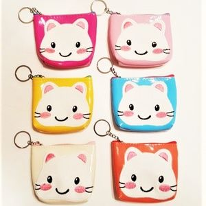 Handbags - Super Cute Kitty Coin Purses..set of 6